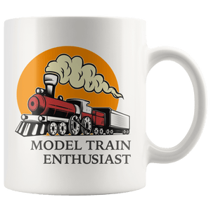 Model Train Enthusiast Vintage Railway Gift Mug 11oz Wht