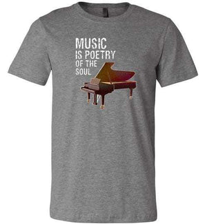 Music is Poetry Piano Shirt Deep Heather / XS
