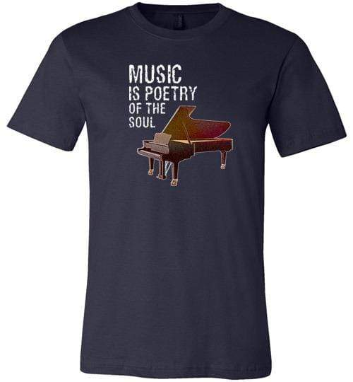 Music is Poetry Piano Shirt Navy / XS