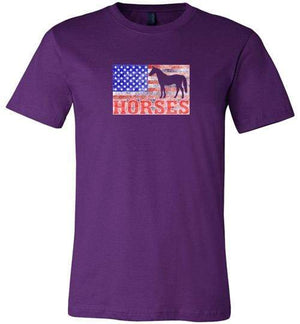 American Horses Shirt ~ Short-Sleeve Shirt (Adult & Youth) Team Purple / XS