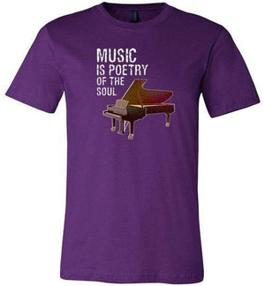 Music is Poetry Piano Shirt Team Purple / XS