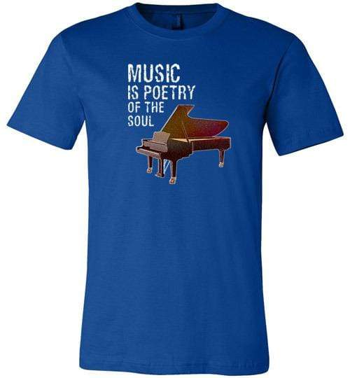 Music is Poetry Piano Shirt True Royal / XS