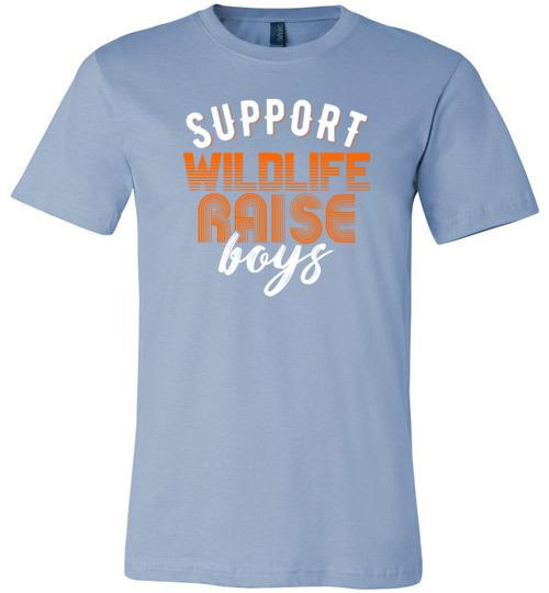 Support Wildlife Raise Boys Shirt for Men & Women - Short-Sleeve (Adult)