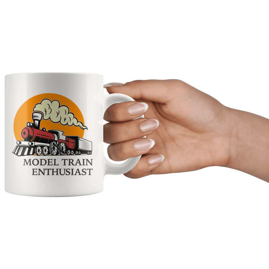 Model Train Enthusiast Vintage Railway Gift Mug ~ 11oz.