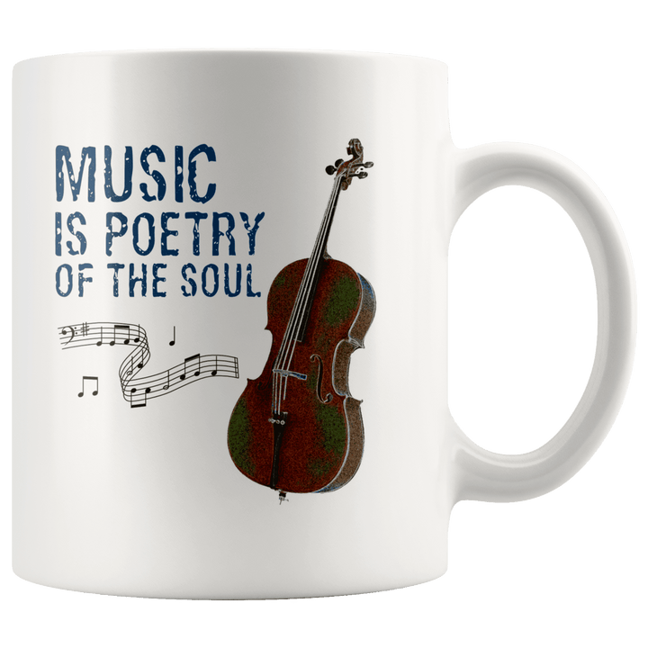 Music is Poetry of the Soul Cello Mug
