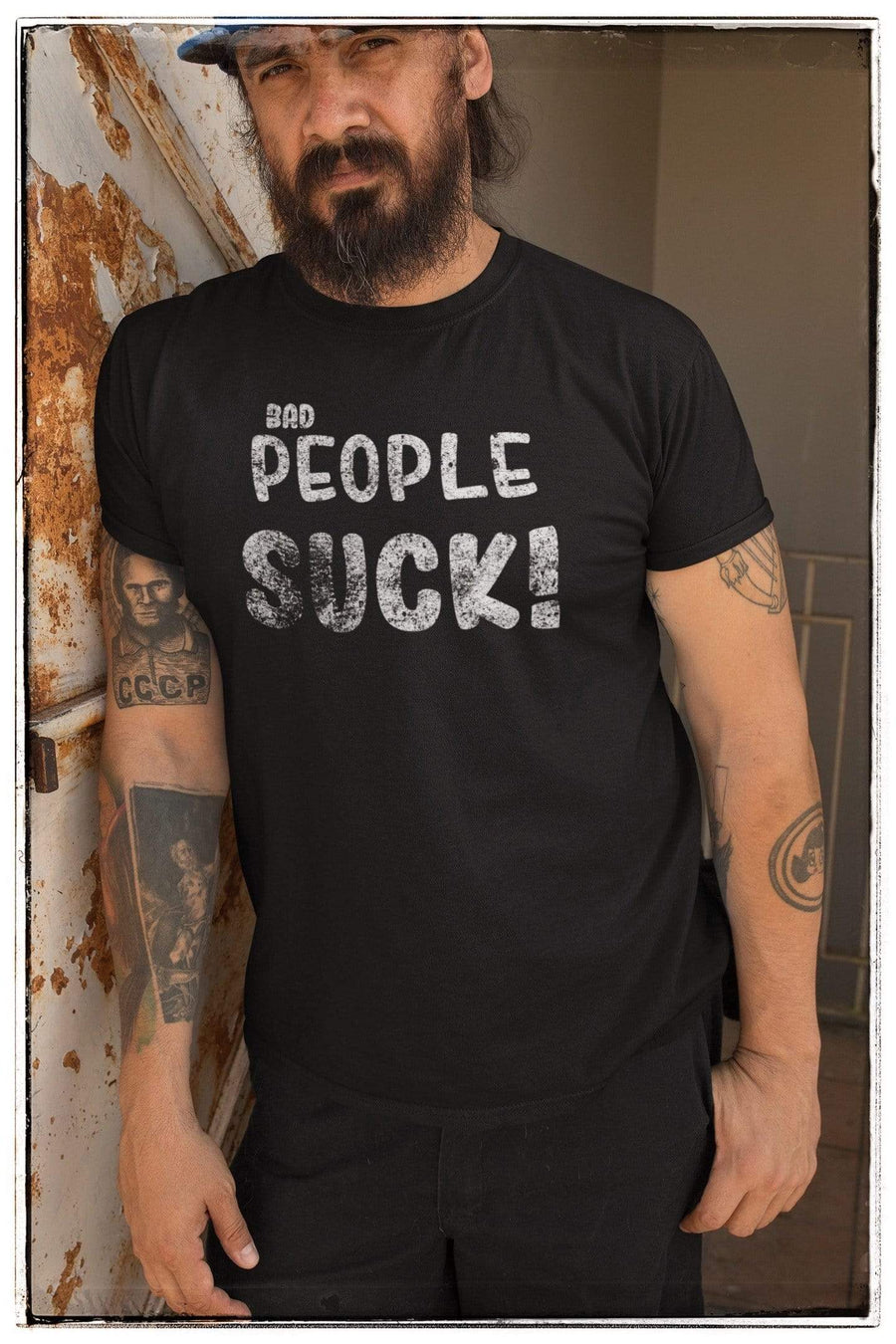 Bad People Suck Short-Sleeve Shirt for Men & Women (Adult)