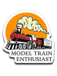 "Model Train Enthusiast Decal (roughly 2.875""x2.875"")"