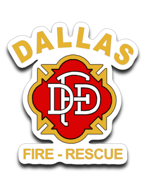 "Dallas Fire-Rescue Logo Decal ~ approx. 3""x3"""