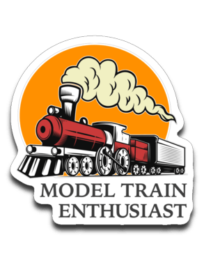 Model Train Enthusiast Decal (roughly 2.875