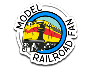 "Model Railroad Fan Decal (roughly 2.75""x2.75"")"