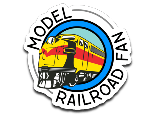 Model Railroad Fan Decal (roughly 2.75