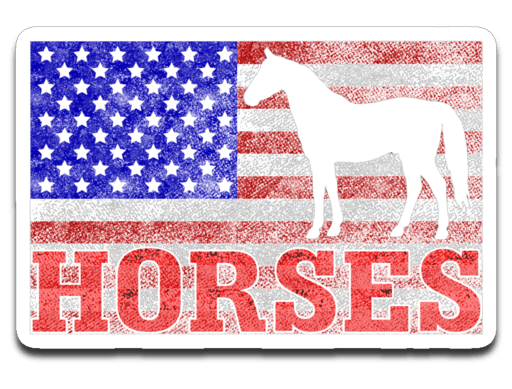 "American Horses Decal  (roughly 3.75""x2.75"")"