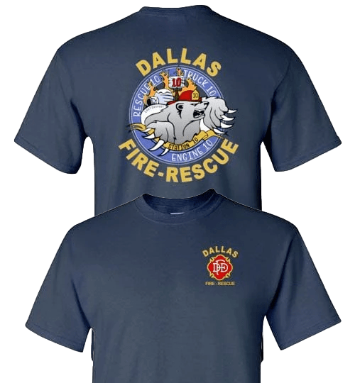 Dallas Fire Station 10 Polar Bear Logo t-Shirt