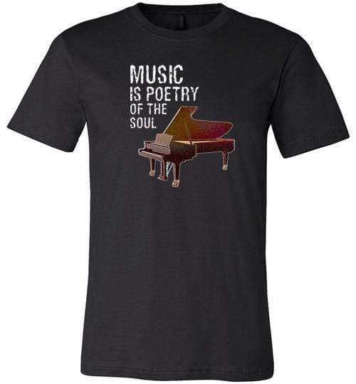Music is Poetry Piano Shirt Black / XS
