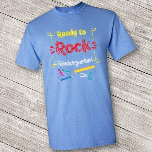 Ready to Rock Kindergarten Short Sleeve T-Shirt for Back To School  (Youth Size) Purple / XS
