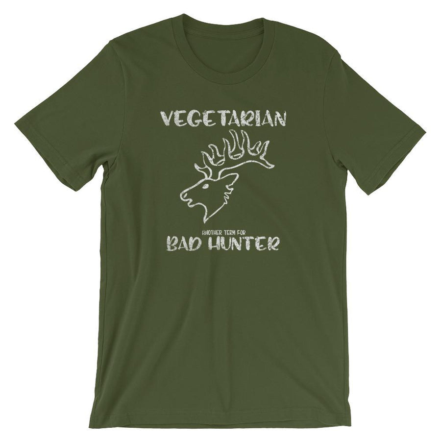 Vegetarian Another Term for Bad Hunter Short-Sleeve Shirt for Men & Women (Adult)