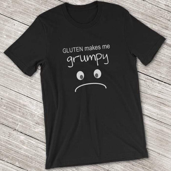 Gluten Makes Me Grumpy Shirt Black / M