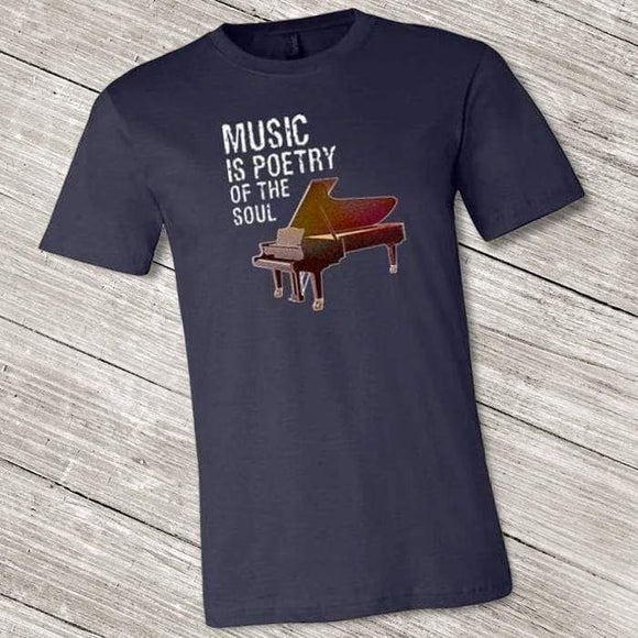 Music is Poetry Piano Shirt ~ Short-Sleeve Shirt for Youth & Adult