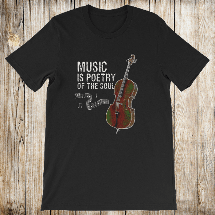 Music is Poetry Cello Short-Sleeve Shirt for Men & Women (Adult)