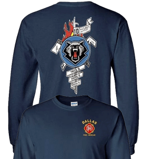 Dallas Fire-Rescue Station 10 Official Logo t-Shirt