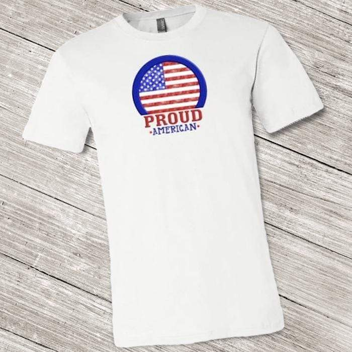 Proud American Shirt ~ Short-Sleeve (Adult & Youth) White / XS