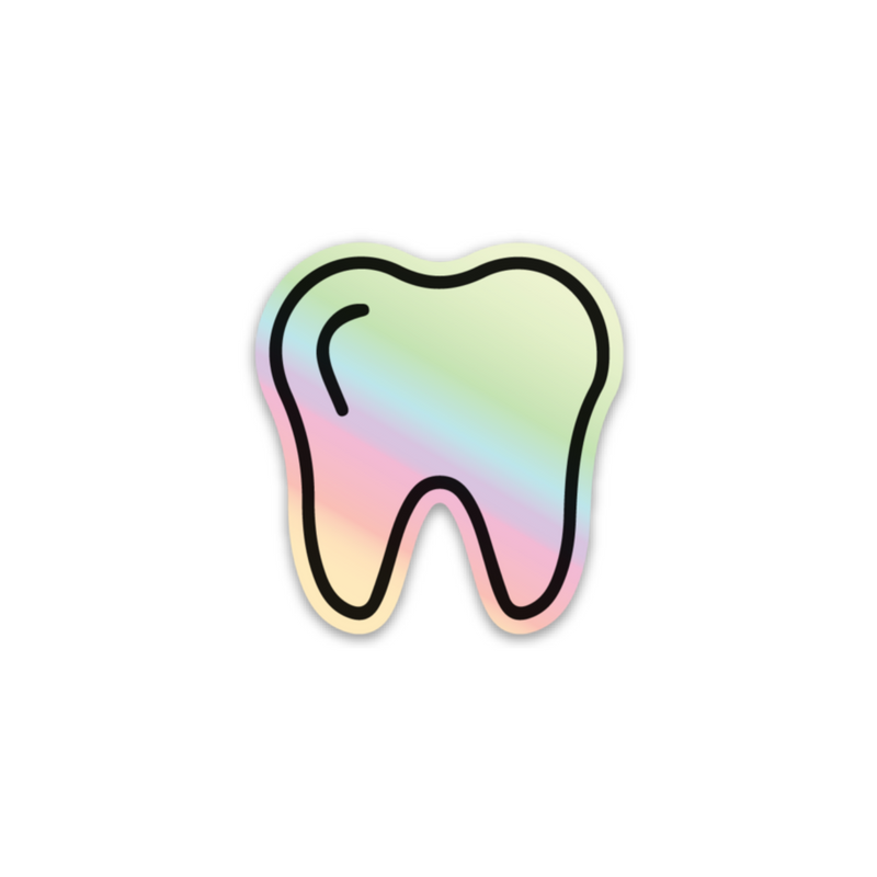 Holographic Tooth Sticker