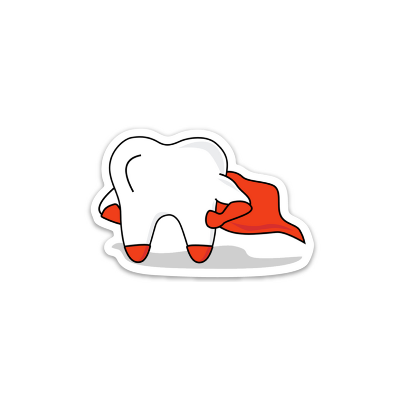 Hero Tooth Sticker