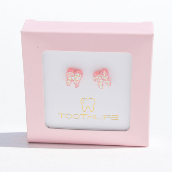 Royal Pink Opal Earrings - Toothlife