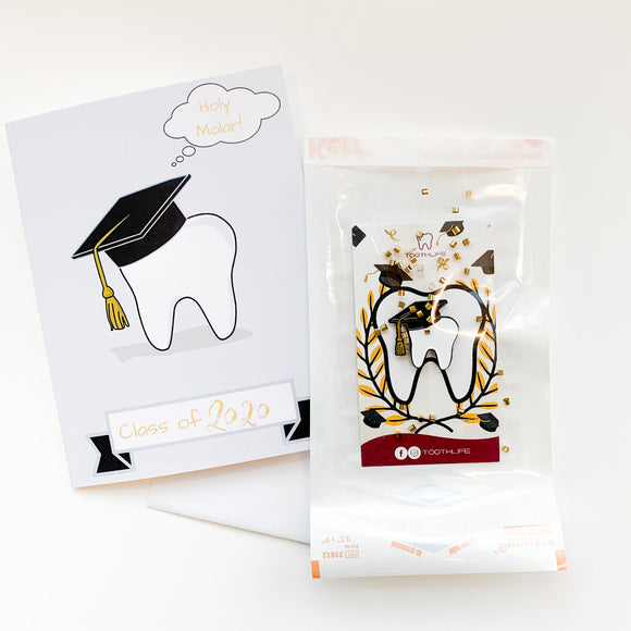 Tooth Grad Pin and Card