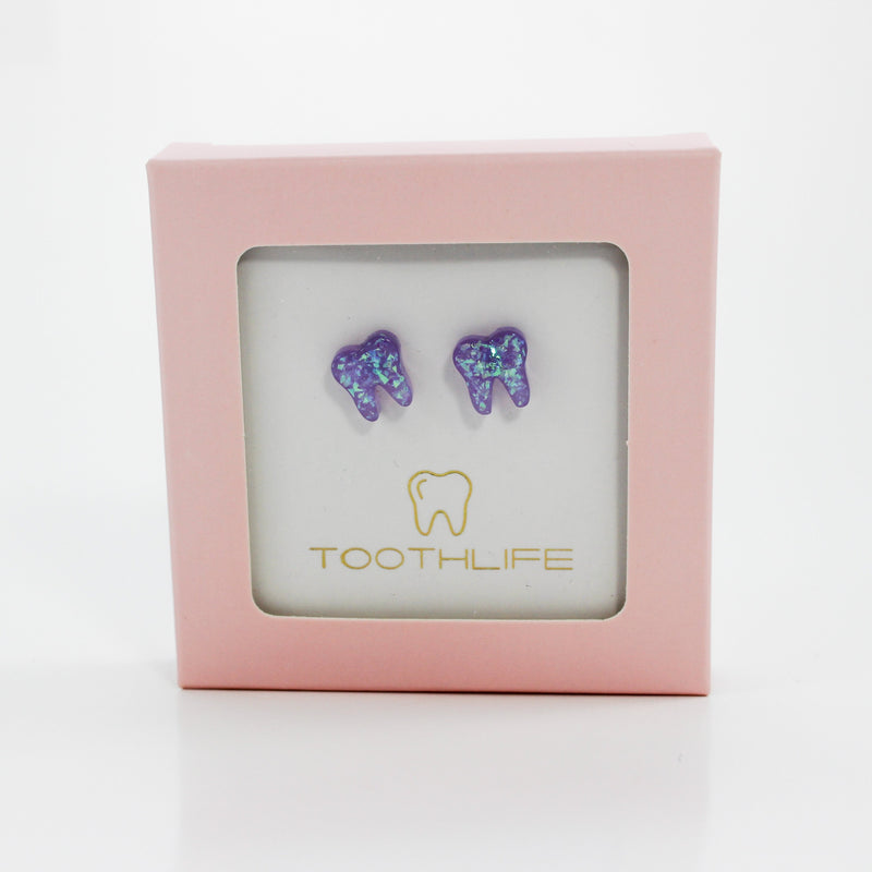Lilac Opal Earrings