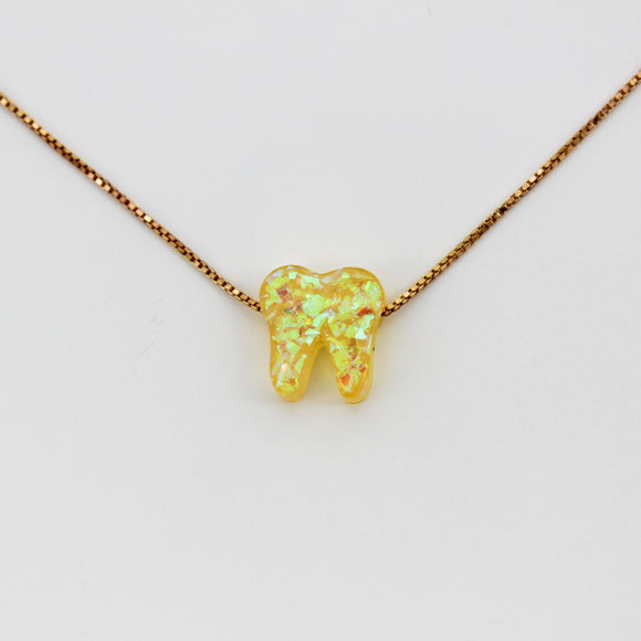 Sunbeam Yellow Rose Gold Opal Necklace