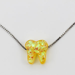 Sunbeam Yellow Silver Opal Necklace