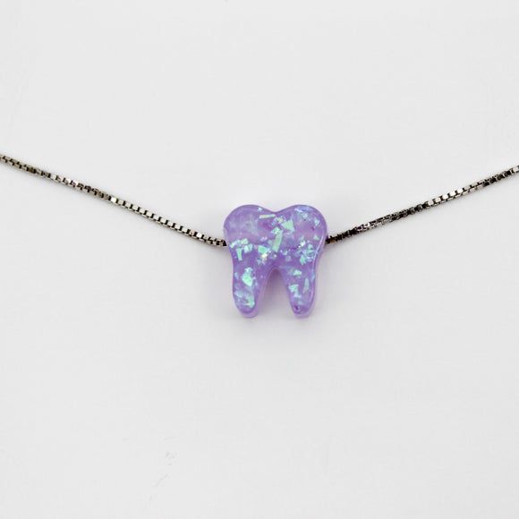 Lilac Silver Opal Necklace