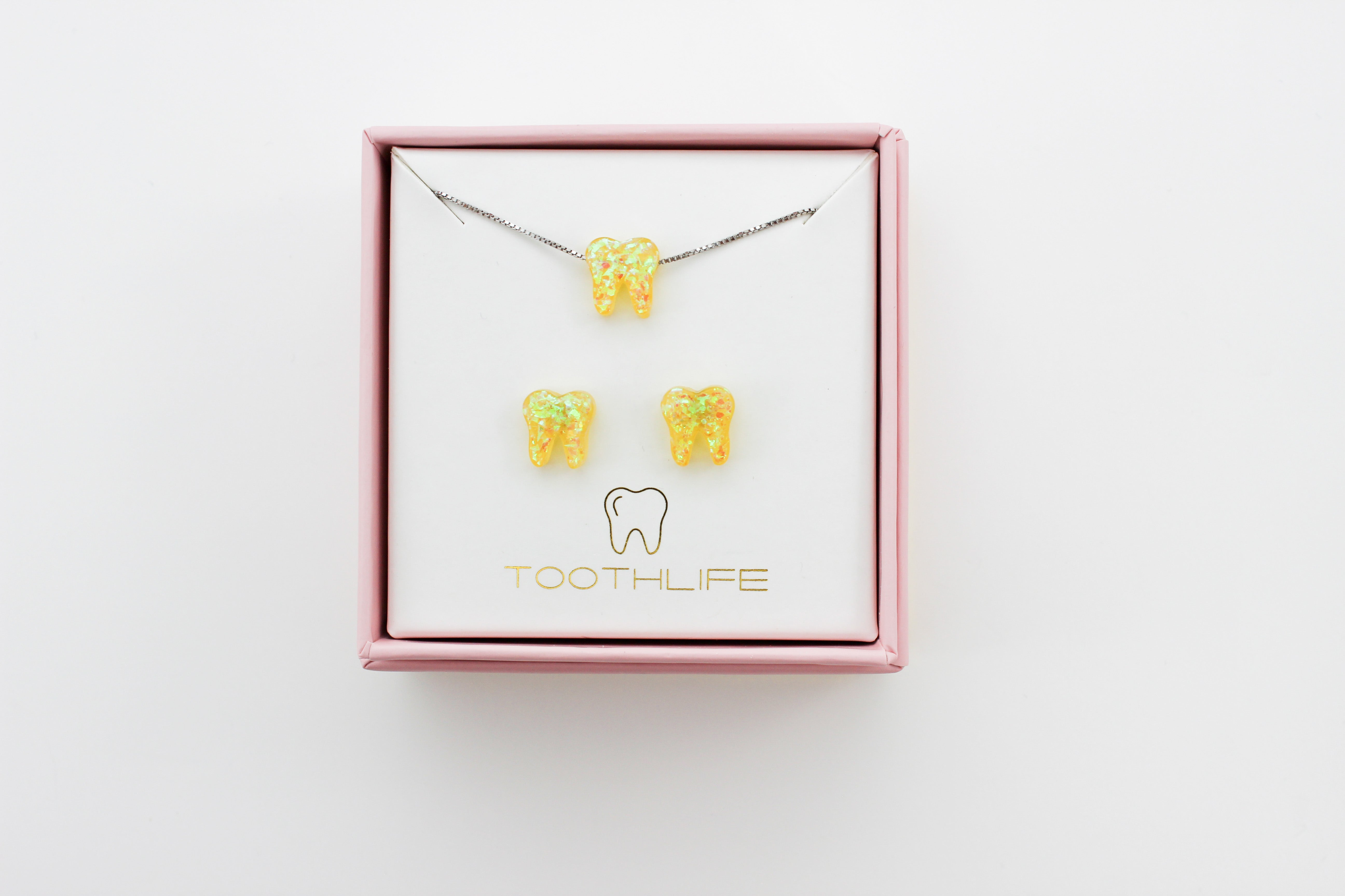 Sunbeam Yellow Silver Opal Set