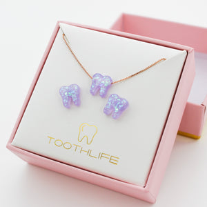 Lilac Rose Gold Opal Set