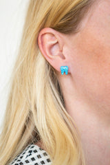 Azure Blue Opal Earrings - Toothlife