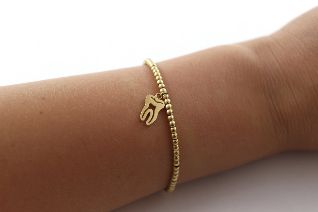 Small Gold Tooth Bracelet