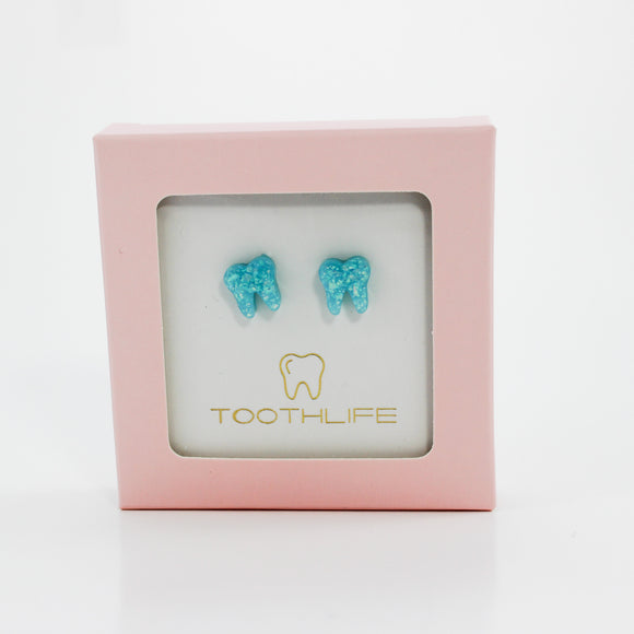 Ocean Blue Opal Earrings
