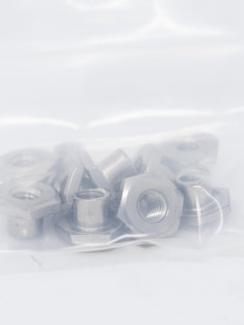 Ricon Outboard Rollstop Nut, Tee, 1/4-20x1/4L Neck, SST (Bag of 10)