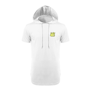 dabhand (white shortsleeve hooded shirt)