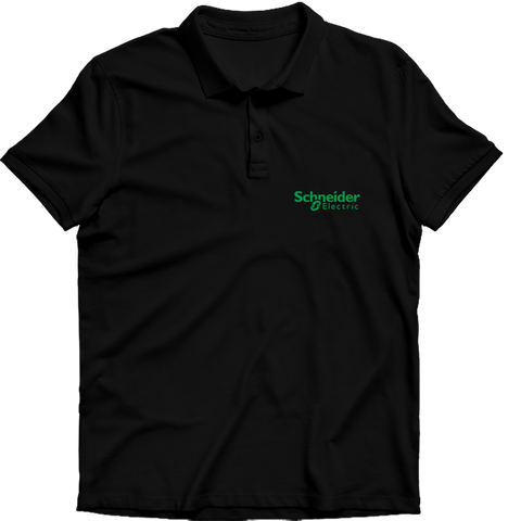 Schneider electric Polo T-shirt Black
