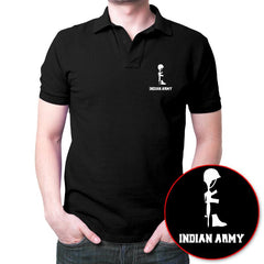 Amar Jawan Polo T-Shirt Black