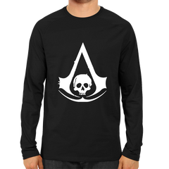 Assassin's Creed Black Flag Logo Full Sleeve Black