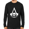 Image of Assassin's Creed Black Flag Logo Full Sleeve Black