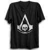 Image of Assassin's Creed Black Flag Logo Half Sleeve Black