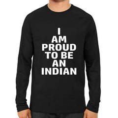 I am proud to be an Indian Full Sleeve Black