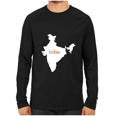 India Map Indian Full Sleeve Black