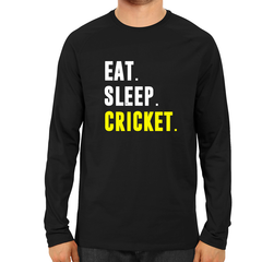 CRIC 37- Eat Sleep Cricket-Full Sleeve-Black