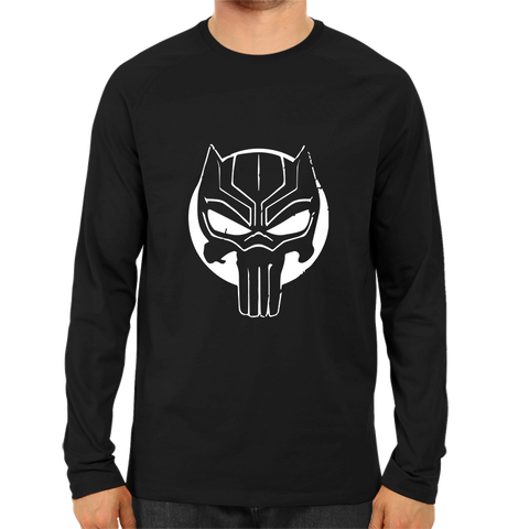 Black Panther Face Full Sleeve Black