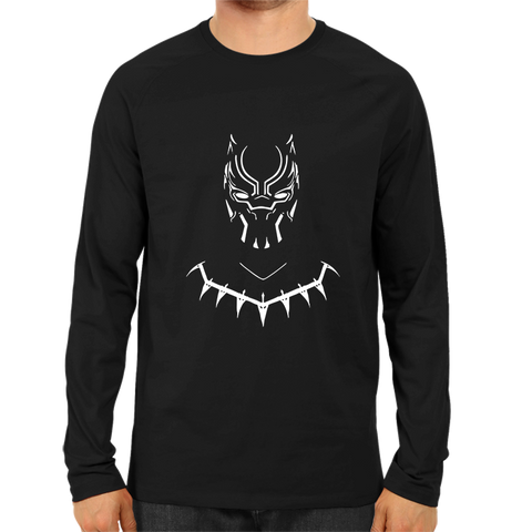 Black Panther Face 2 Full Sleeve Black